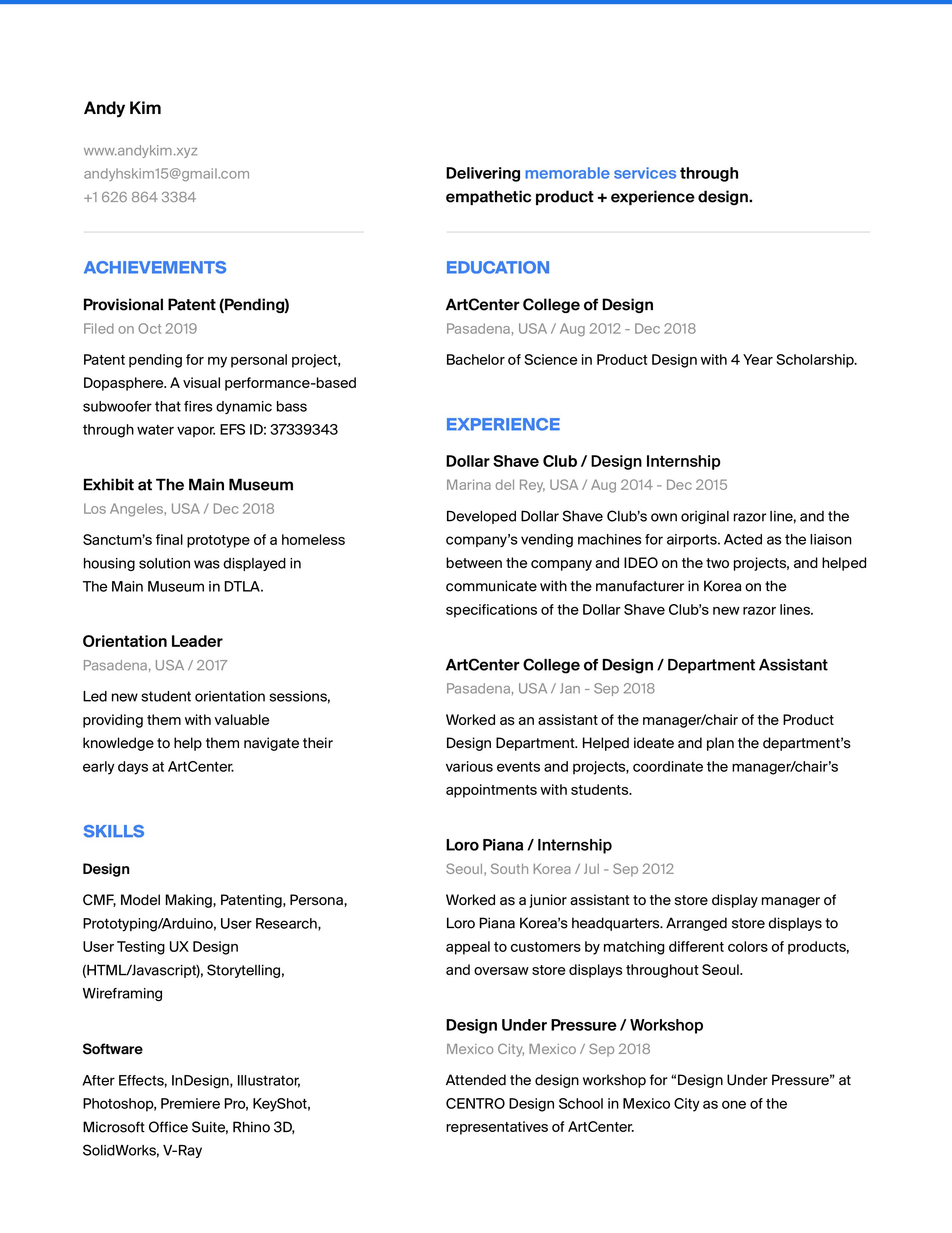 AndyKim_Resume2019Oct
